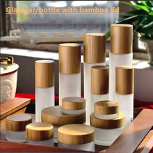 Cosmetic CBD hemp oil frosted clear jar bamboo bottles with lotion spray cap sample skin care cream 30ml 50ml 100ml 120ml 150ml