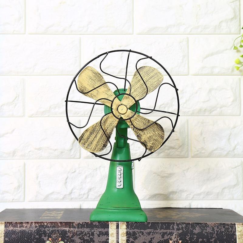 Retro nostálgico Fan ornamento, decoración para el hogar, accesorios resina Figurines en miniatura modelo de regalos de decoración para el hogar artesanías accesorios Decoración