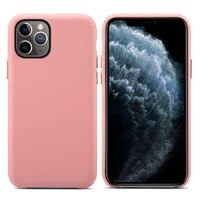 luxury phone case for apple iphone 12 mini 12 pro x xr xs max case genuine leather cases for 11 pro max cover solid color case