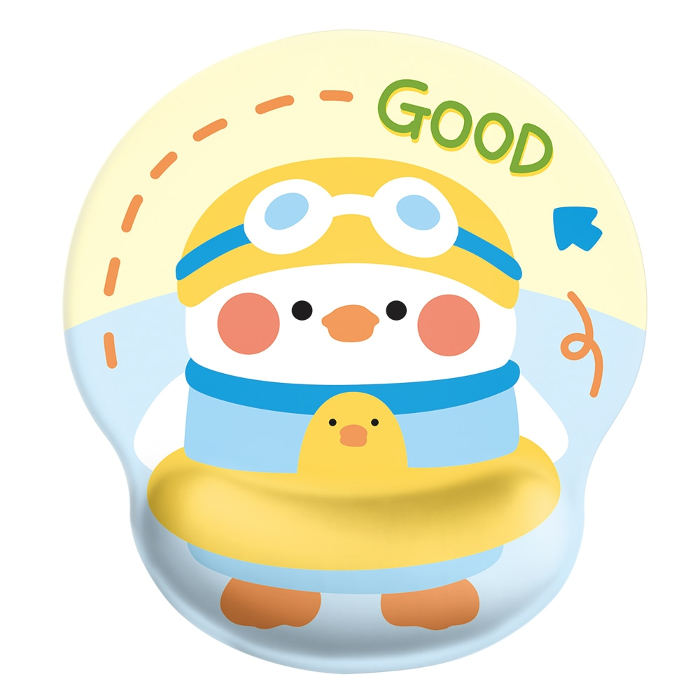 24x22x2cm Silica Gel  Duckling  Mouse Pad   Lovely Wind  Rest to Relieve Wrist Pressure
