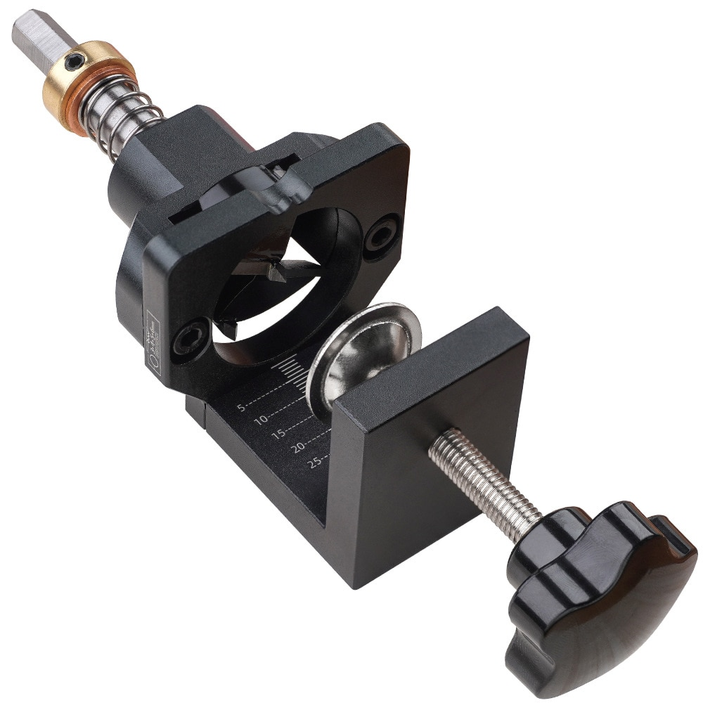 Drill Guide Hole Punch Locator Kit Aluminum Alloy 35mm Hinge Jig With Clamp Woodworking Installation Hole Locator
