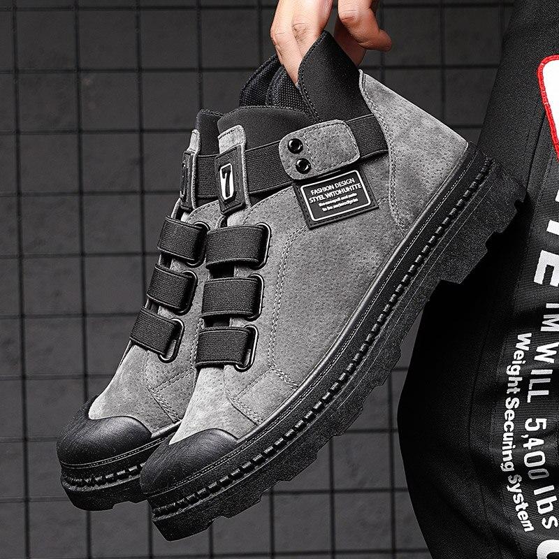 عالية الجودة أحذية من الجلد الرجال الشارع الشهير حذاء من الجلد الذكور يمكن ارتداؤها دراجة نارية أحذية رجل كبير الحجم 39-44 أحذية رياضية خريف 2021