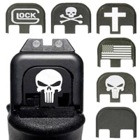 tactical glock slide rear cover plate back cover wuitable for glock gen 1 4 gen 5 pistol gun magazine magwell accessories