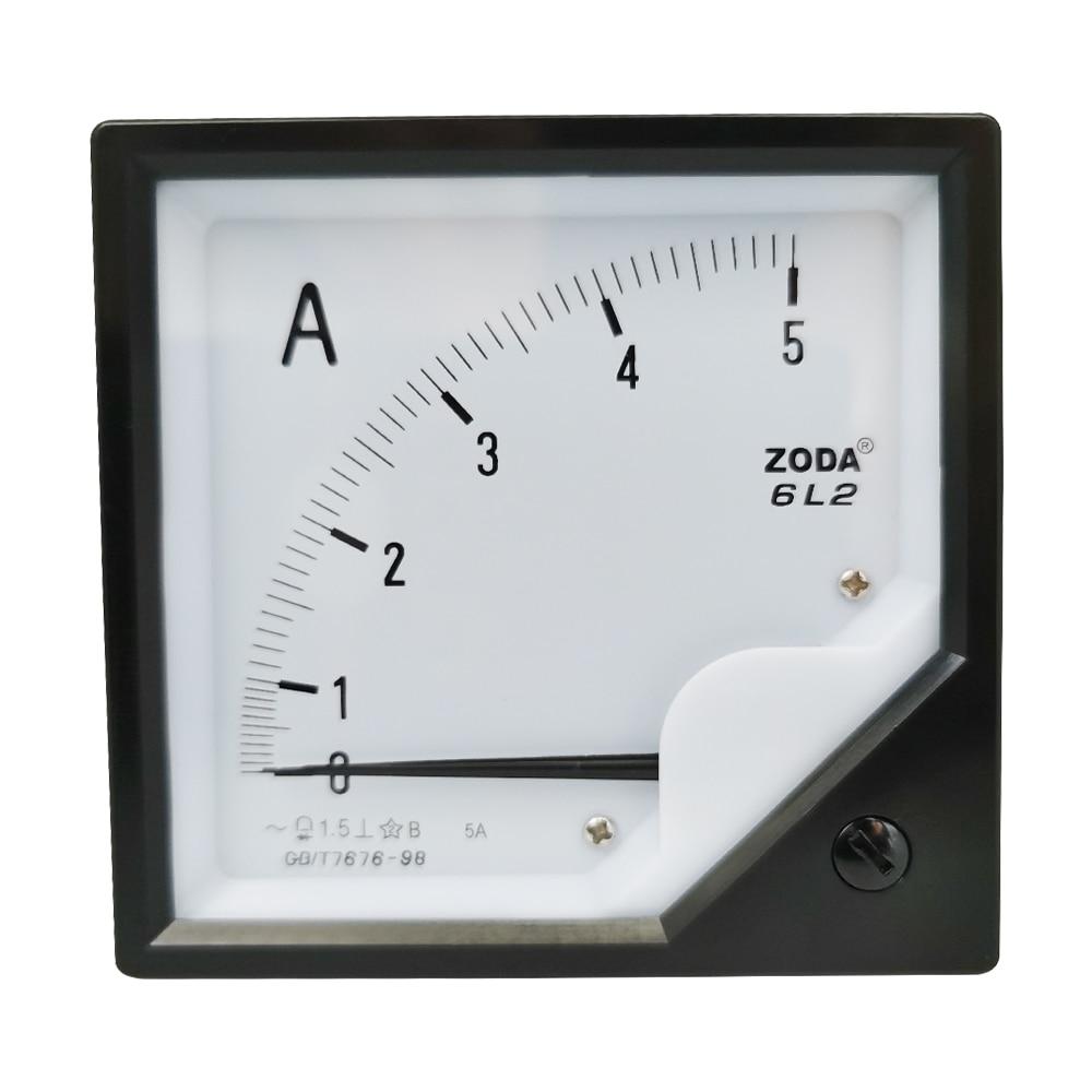 1 unidad 6L2-A 5A 10A 15A 20A 30A AC Panel de medidor analógico directo AMP amperímetro de corriente amperímetro indicador amperímetro 80*80MM Amperimetro AC