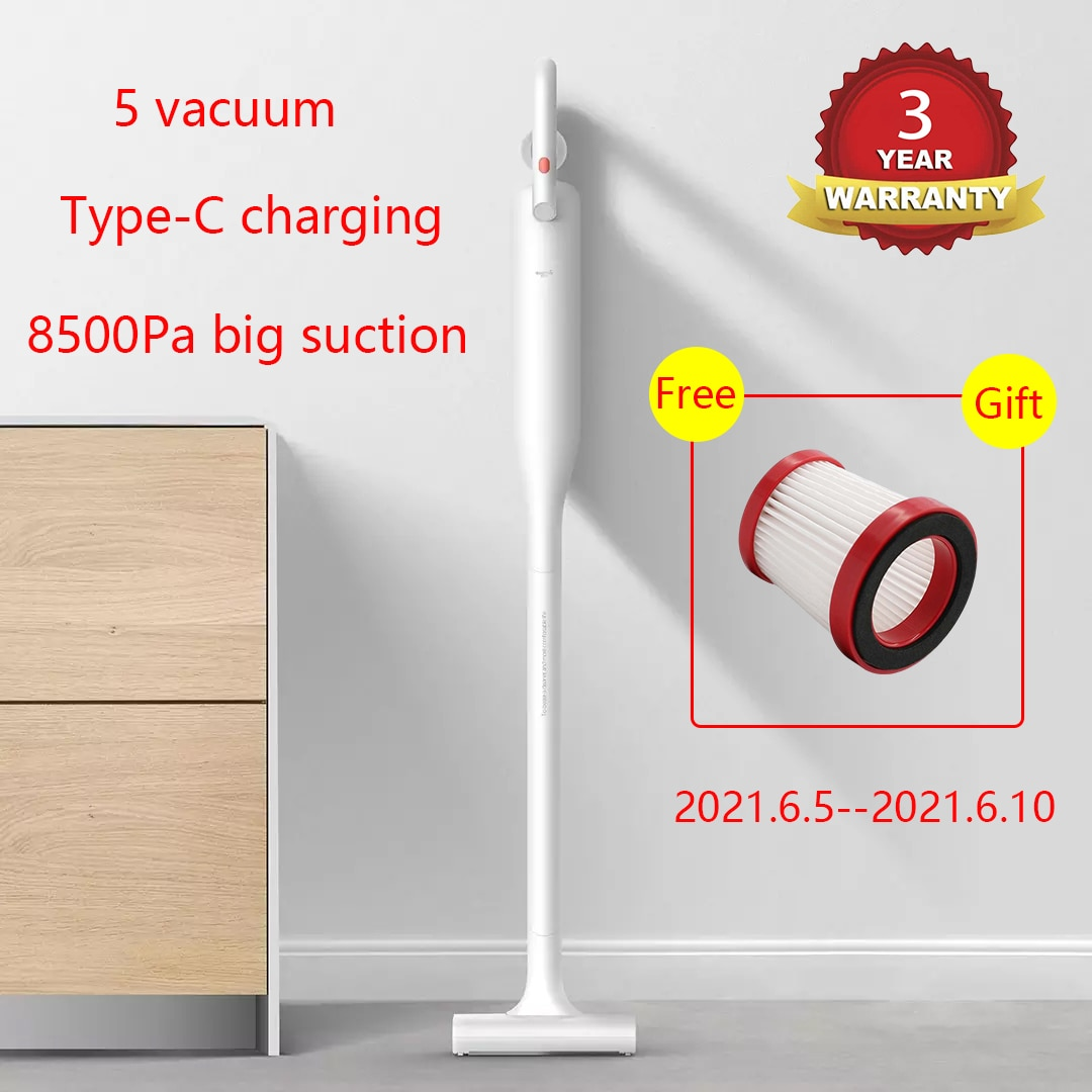 2021 Deerma VC01 Wireless Upright Vacuum Cleaners Washing Cordless Electric Household Vertical Cleaner Car Pool from Youpin