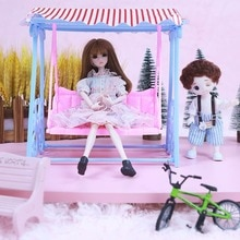 New OB11 Fashion Swing Chair Cute Children's Toy Doll Accessories Best Gift for 1/6 30cm Doll Plasti