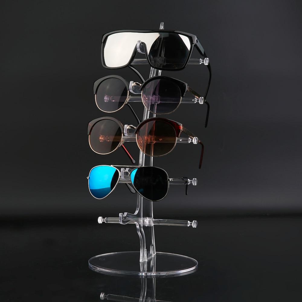 5 Pair Sunglasses Glasses Fashion Acrylic Show Rack Counter Eyeglasses  Transparen Display Stand Holder clear acrylic 3 tier eyeglass sunglasses glasses display stand table counter top retail show holder