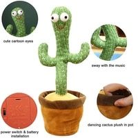 knitted cloth cactus electronic decoration childrens fun gifts early education toys plush will sing 120 songs dancing cactus