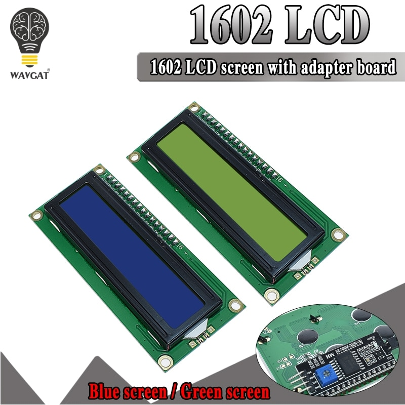 LCD1602 LCD module Blue screen IIC/I2C 1602 for arduino 1602 LCD UNO r3 mega2560 Green screen