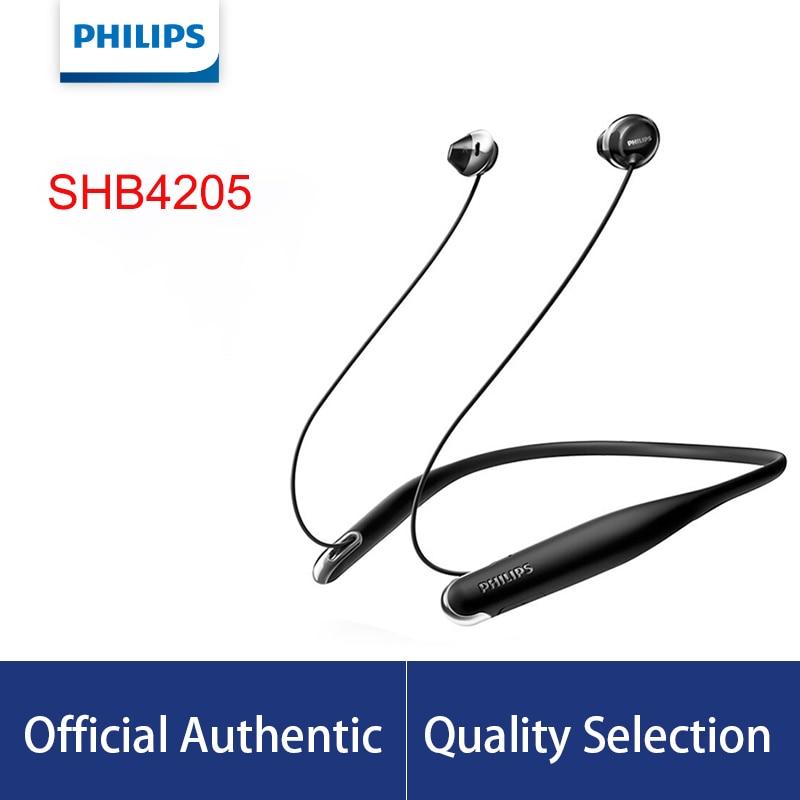Philips-سماعة رأس بلوتوث 4.1 SHB4205 ، دعم كابل USB A2DP ، AVRCP ، HFP ، HSP ، لهاتف Galaxy note 8 ، شهادة رسمية