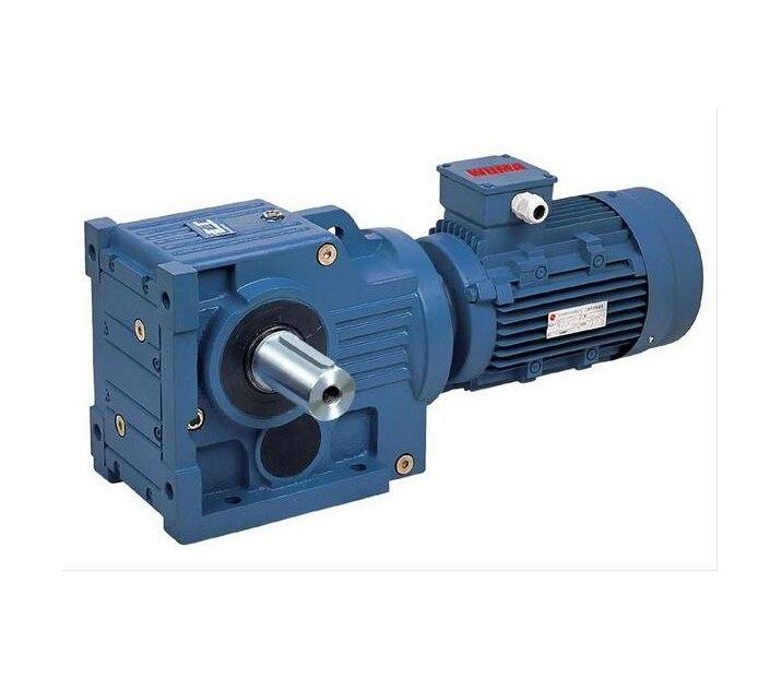 Serie de caja de cambios cónica helicoidal/reductor de velocidad con eje sólido/hueco