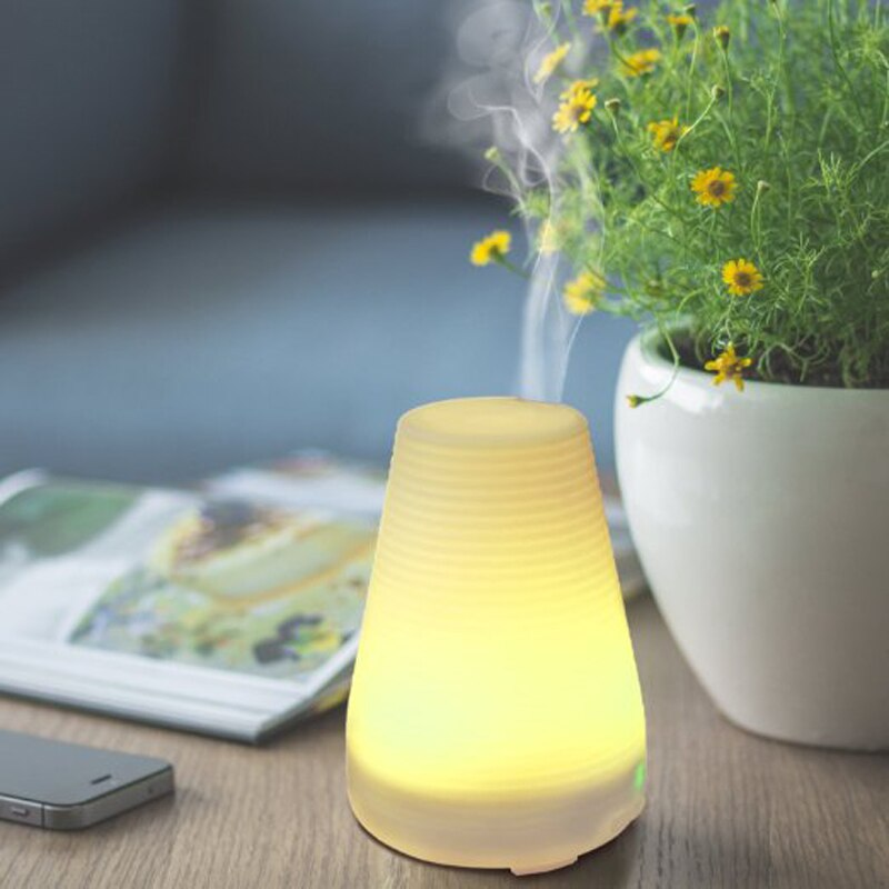 Air Humidifier screw thread  Essential Oil Diffuser Aromatherapy Oil Diffusers Ultrasonic Mist with 7 Color Changing LED
