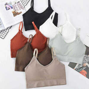 Vest Stretch Bras Crop Sports Shapewear Style Seamless Bralette Comfort Top Bra