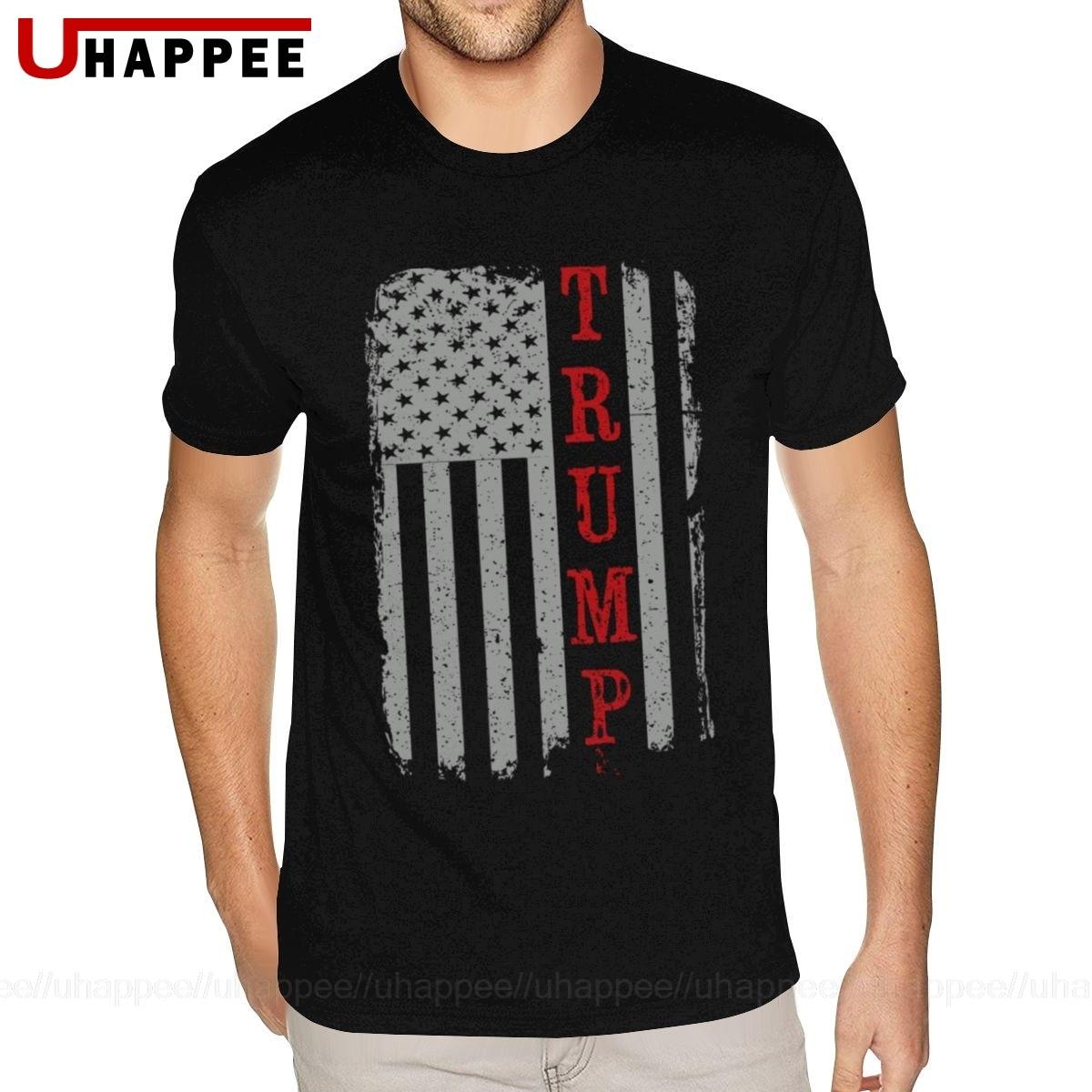 Donald J. Trump presidente-bandeira americana teesshirts juventude 2020 moda camisa masculina manga curta preço barato marca vestuário