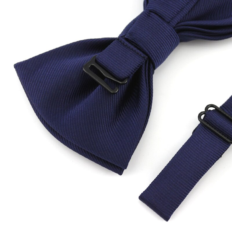 2019 New Fashion Men's Bow Ties for Wedding Double Fabric Dark Blue Bowtie Club Banquet Anniversary Butterfly Tie with Gift Box