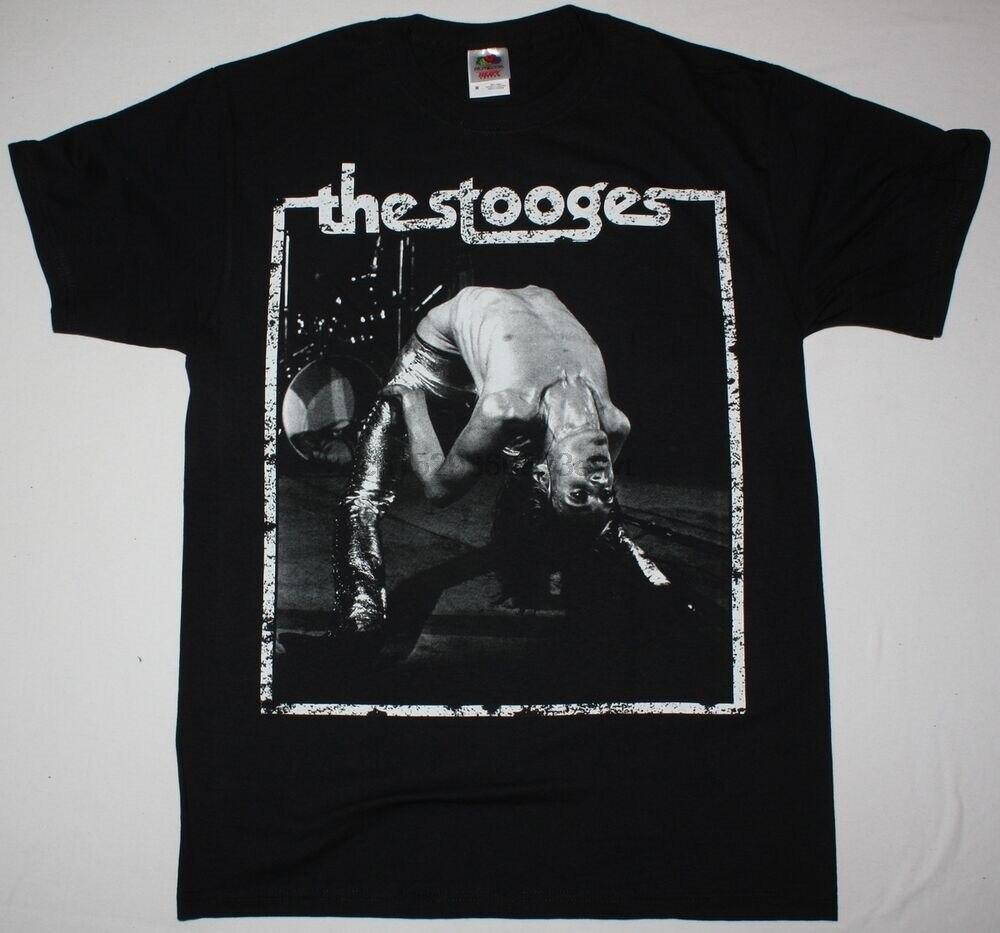 IGGY y los STOOGES IGGY POP negro para hombre T camisa garaje PUNK ROCK NEW YORK DOLLS.