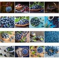 Offre Speciale Decor A La Maison Peinture au Diamant Myrtille Sucree de Fruits Frais 5D PLEIN Carre Strass Broderie Diamant Art Photo