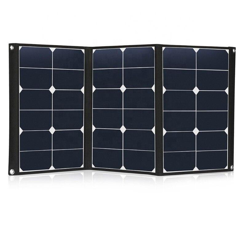 المحمولة 60 واط sunpower لوحة شمسية قابلة للطي مع أندر سون التوصيل ويتصاعد