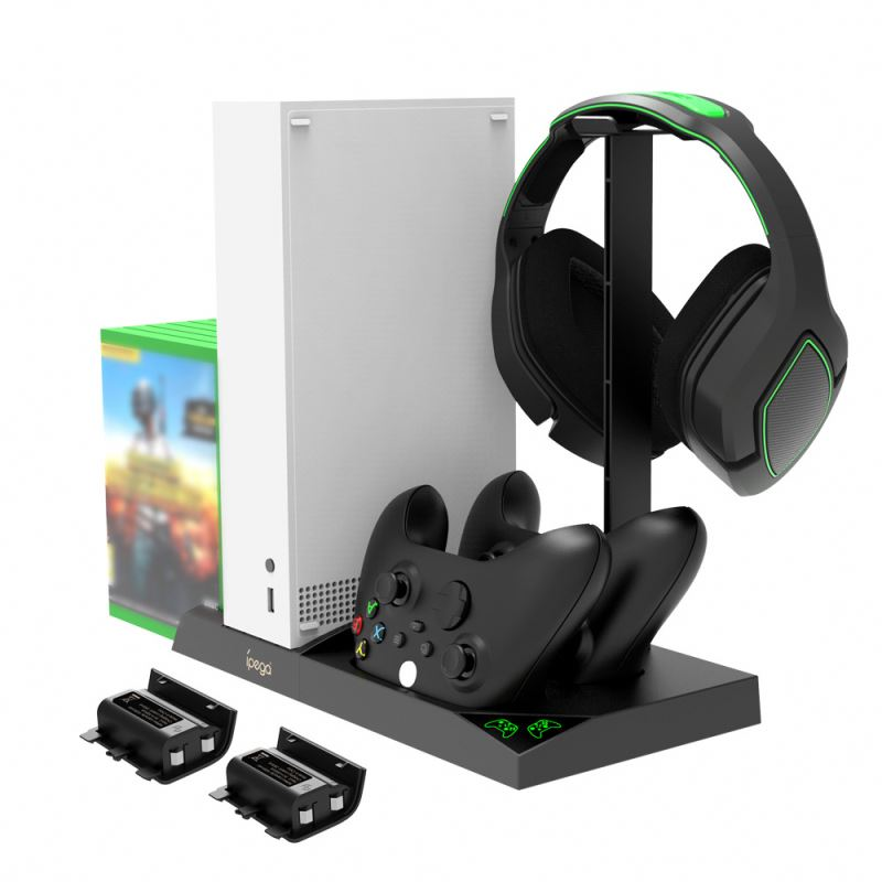 cooling vertical stand dual controller charger for xbox one s x console games card storage charging docking station for xbox one Dock Charging Docking Station For X Box Xbox Series X S Console Control Controller Battery Charger Stand Accessories Charge Kit