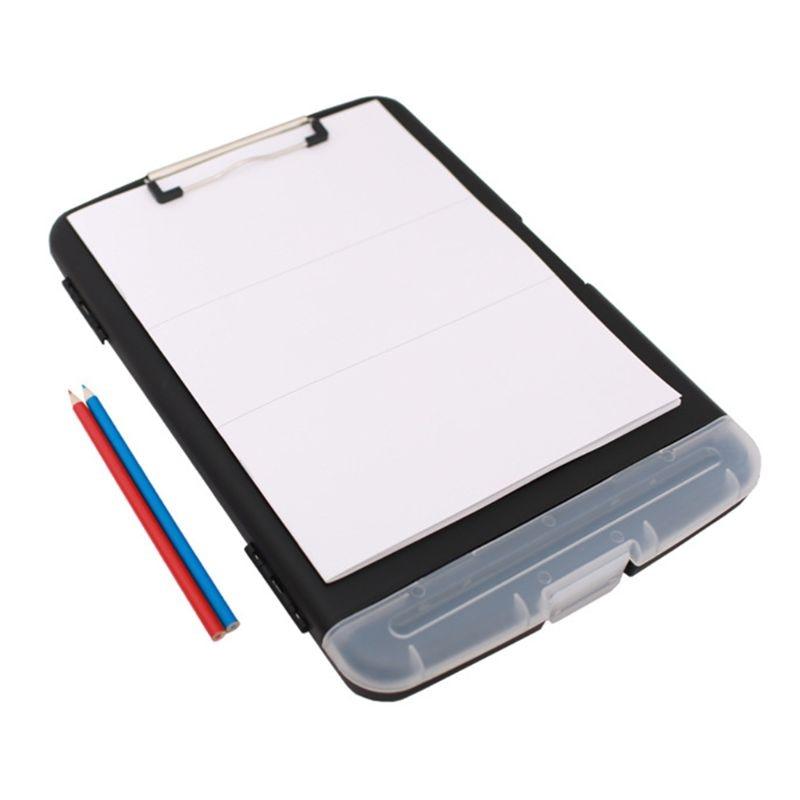 Multifunctional File Folder Organizer Clipboard Box Case Pen Holder Stationery 24BB