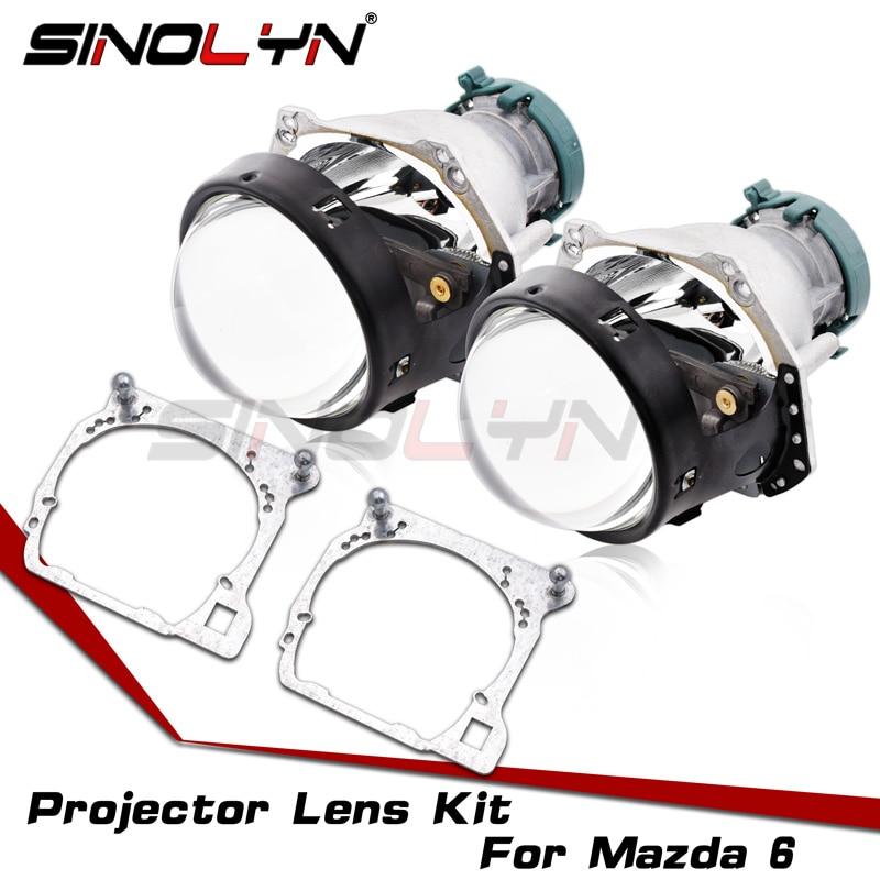 Для Hella 3R G5 фары линзы для Mazda 6 Bi-xenon HID проектор Объектив Рамка адаптер замена Автомобильные фары аксессуары для модернизации