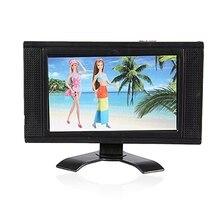 Nuevo LCD TV de muñeca accesorios de estructuras de juguete para muebles de casa de muñecas Brabie