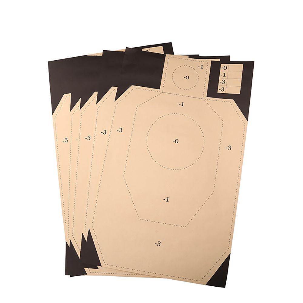 DEWO 10 шт. пистолет съемки цели Пейнтбольный учебный знак диапазон военных учений картона стреляющая военный Охота школа цель