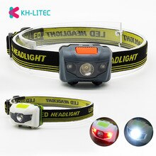 Portable Mini 4 Modes léger phare LED Camping lampe frontale tête lampe de poche en cours dexécution phare de Camping AAA Battey