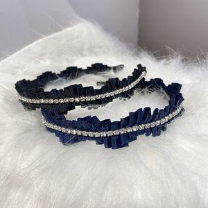 Free shipping fashion wave women Rhinestone hairbands girl's headbands lady's headwear hair accessories