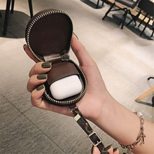 Luxury Brand Earphone Headset Accessories Leather Case for Apple Airpods Pro Air Pods 1 2 3 Cover Fu