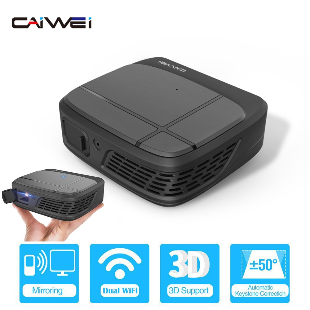 Cine en Casa inteligente portátil Wifi DLP Mini 3D HD LED proyector de bolsillo Video USB para Full HD 1080P Beamer pantalla inalámbrica