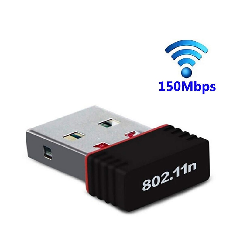 Беспроводной мини USB Wifi адаптер 802.11N 150mbps USB2.0 приемник ключ MT7601 сетевая карта для настольного ноутбука Поддержка Windows MAC
