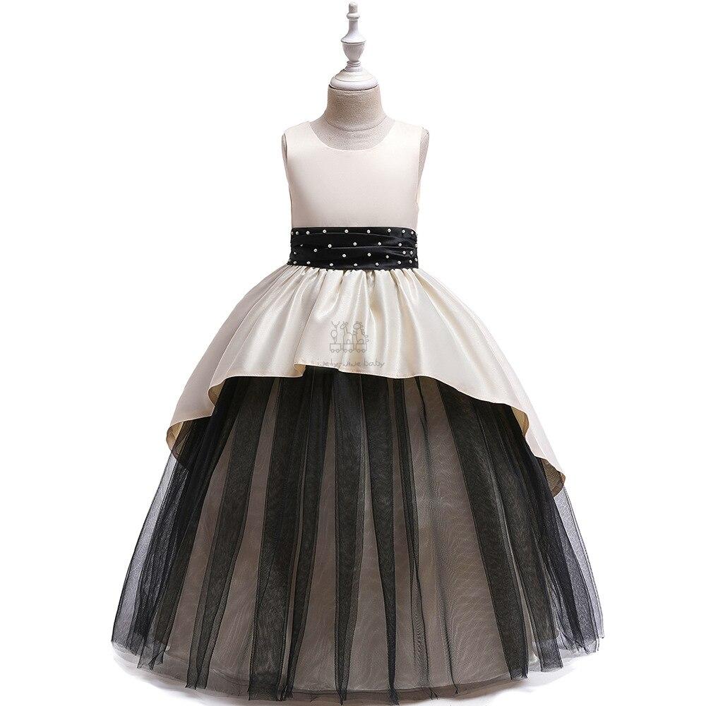 Meninas vestido elegante princesa para meninas vestidos de crianças para meninas vestido de festa de casamento beading vestido crianças roupas vestidos