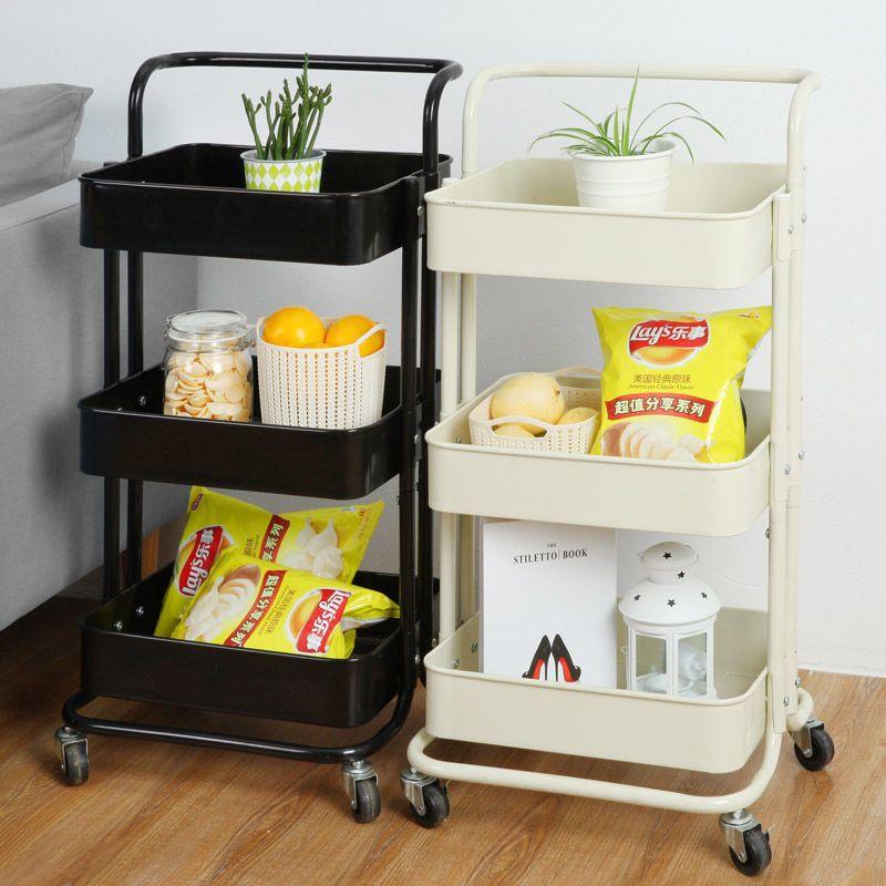 Кухня мебель 3-х ярусная тележка Кухня Органайзер Ванная комната мебель подвижных полки колеса бытовой стенд держатель