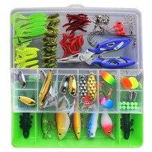 101pcs Lure Kit Set VIB Soft Hard Spoon Crank Baits Fishing Hooks Spinner Crankbait Minnow Popper Fishing Tackle Box Accessories