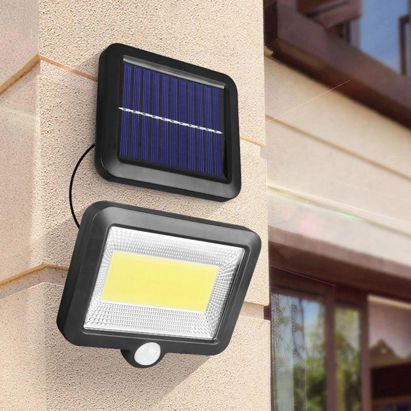 COB LED Solar Wall Light PIR Motion Sensor Floodlight Waterproof Outdoor Garden Lamp for Garden Décor Pathway Street Solar Lamp