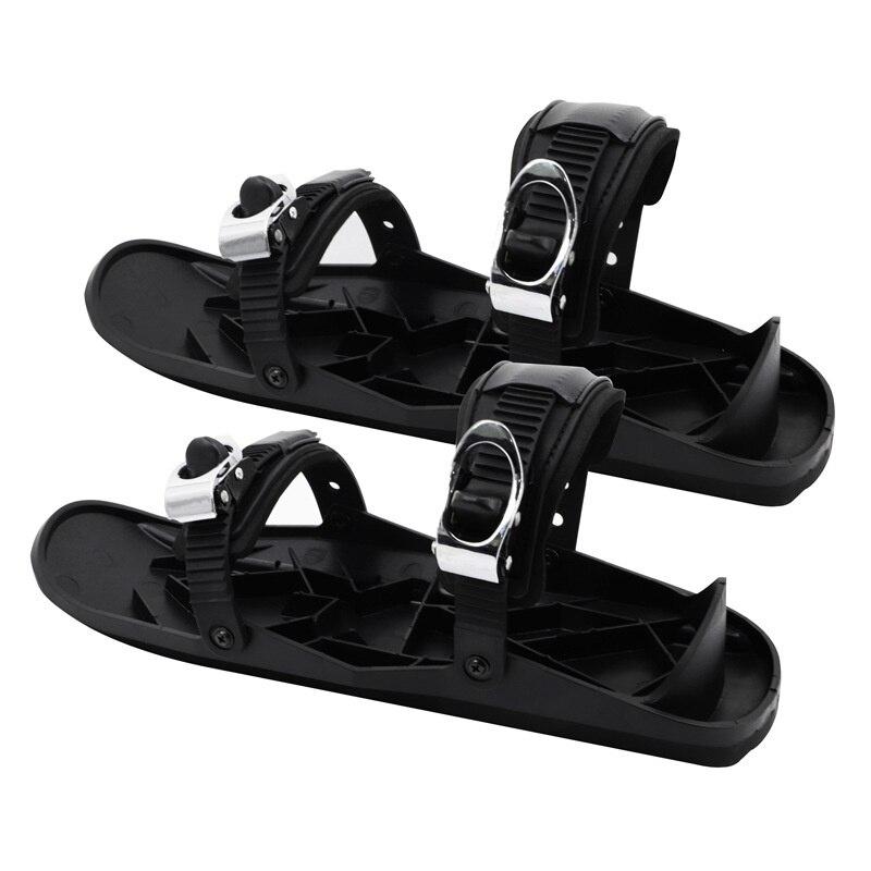 2021 Mini Ski Skates Adjustable Bindings Snowboard Shoes Portable Skiing Shoes Outdoor Travel Snowboards Ski Skates for Snow