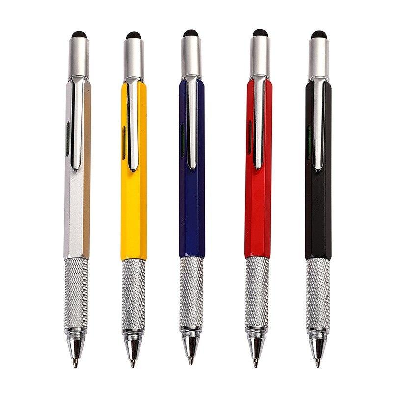 Шариковая ручка 7 в 1, многофункциональные шариковые ручки, измерительная линейка для письма, многофункциональные инструменты с уровнем Spirit...