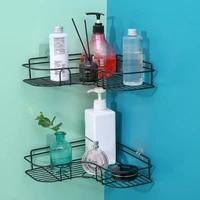 Rangement de shampooing noir  etagere dassaisonnement de cuisine  cadre dangle de poincon  etagere de douche  crochet de Robe  accessoires de salle de bains 1 2 pieces