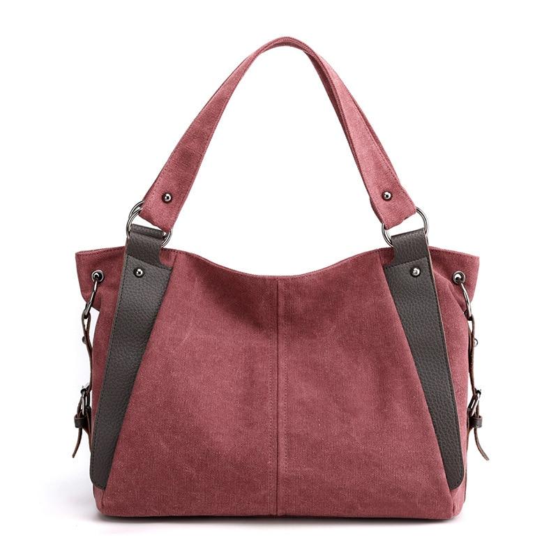 Bolso de lona Vintage para mujer, bolsa informal de viaje, grande, gran...
