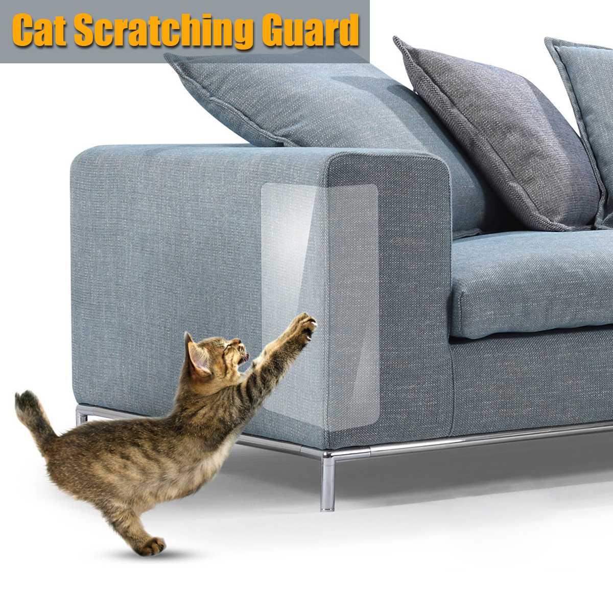 2/4 Uds., Protector de garra de gato para sofá, Protector de garra de gato sin Pinless, almohadilla protectora autoadhesie para rascar el gato, muebles para tapicería de silla de cuero