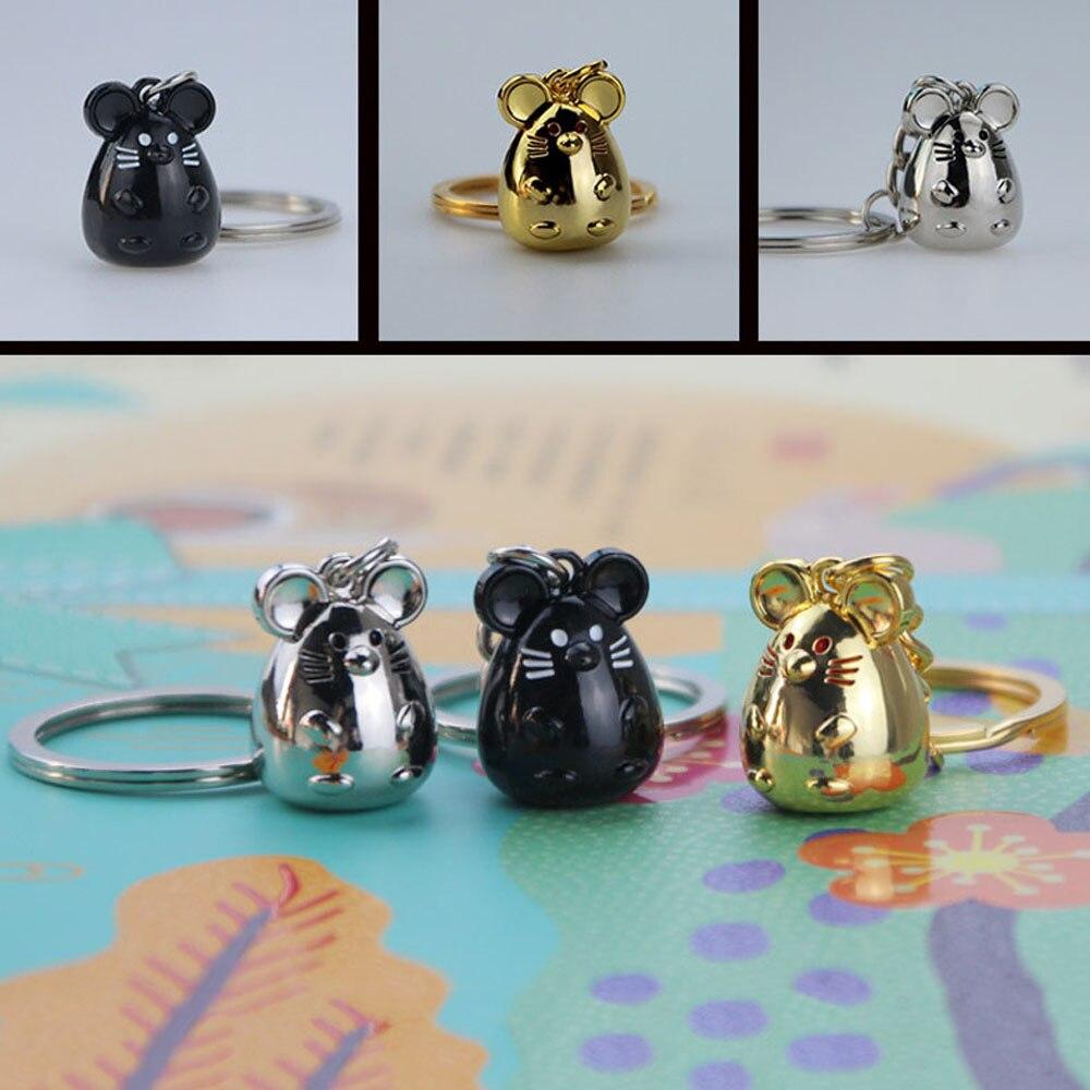 Nouveau gros Rat souris voiture porte-clés mode bibelot Animal voiture porte-clés sac pendentif porte-clés Animal porte-clés pour les femmes cadeau