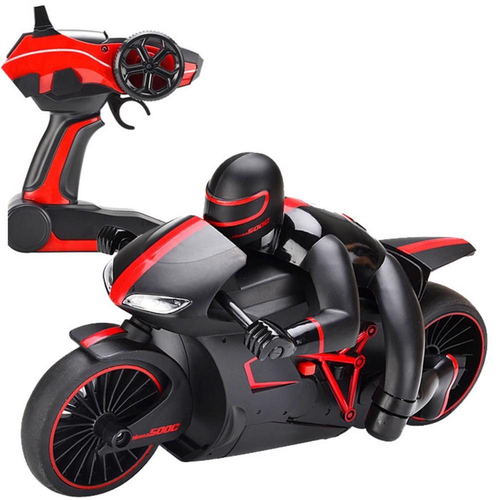 2,4G Mini motocicleta RC con luz fría de alta velocidad modelo de motocicleta de juguete de Control remoto Drift Motor regalos para niños
