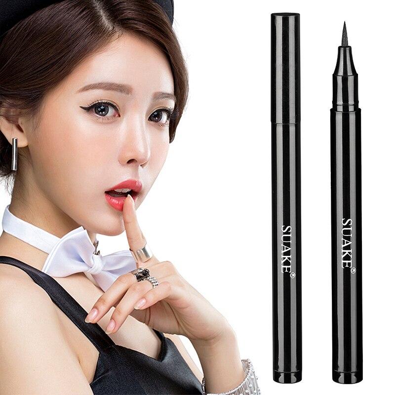 Professional Black Eyeliner Quick-drying Super Waterproof Pen Long-lasting Not Blooming Liquid Eyeliner Smooth Eye Makeup TSLM1 недорого