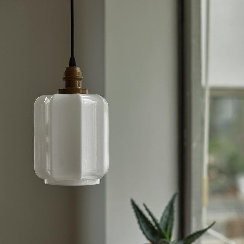 مصباح زجاجي معلق Led بتصميم عتيق ، تصميم شمالي ، إضاءة زخرفية داخلية ، مثالي للدور العلوي أو غرفة النوم أو غرفة الطعام أو البار.
