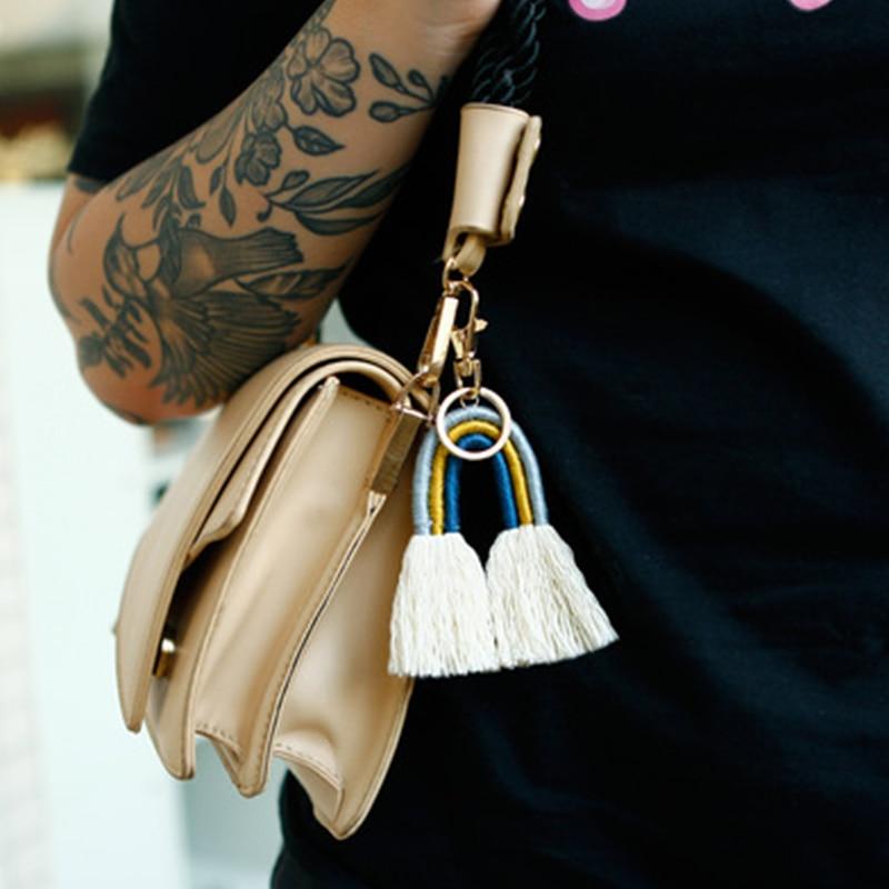 Новые богемные брелоки с кисточками в сумке, женские брелоки ручной работы в этническом стиле, брелок для автомобильных ключей, подарки для ...