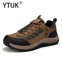 mens outdoor hiking shoes waterproof non slip trekking sneakers men durable breathable climbing tactical sneakers size 39 46