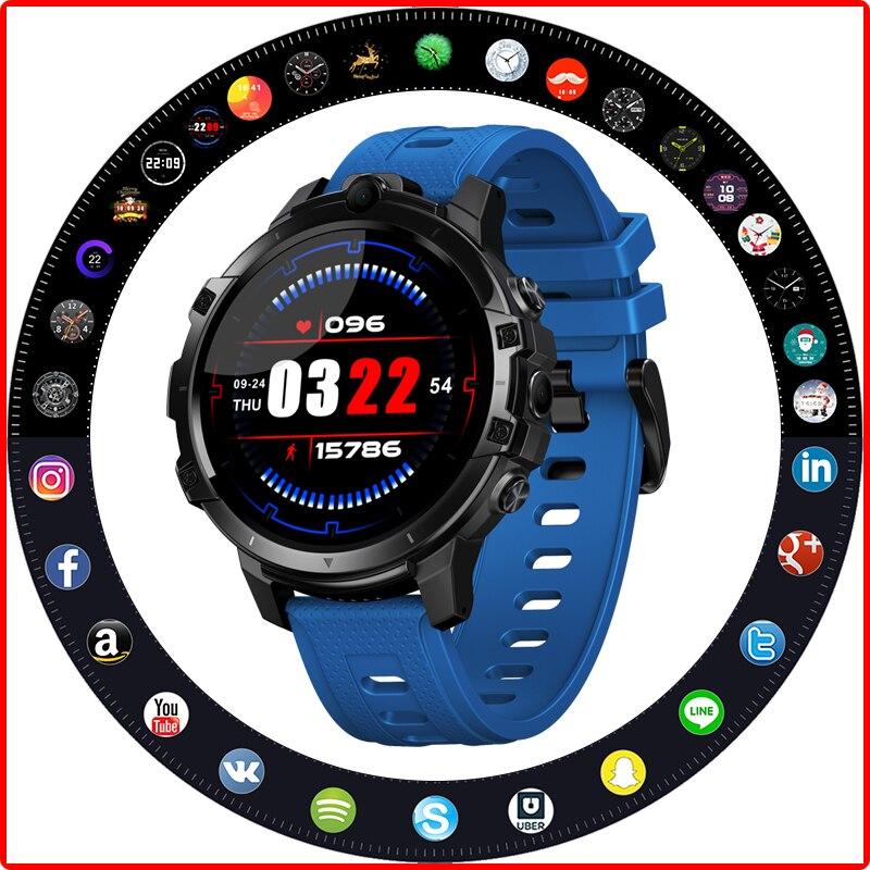 Get 2020 New ZEBLAZE Thor 6 Relogio Iteligente Smart Watch Women Android10 Face ID Global BandsDual HD Cameras 4G Watch часы мужские
