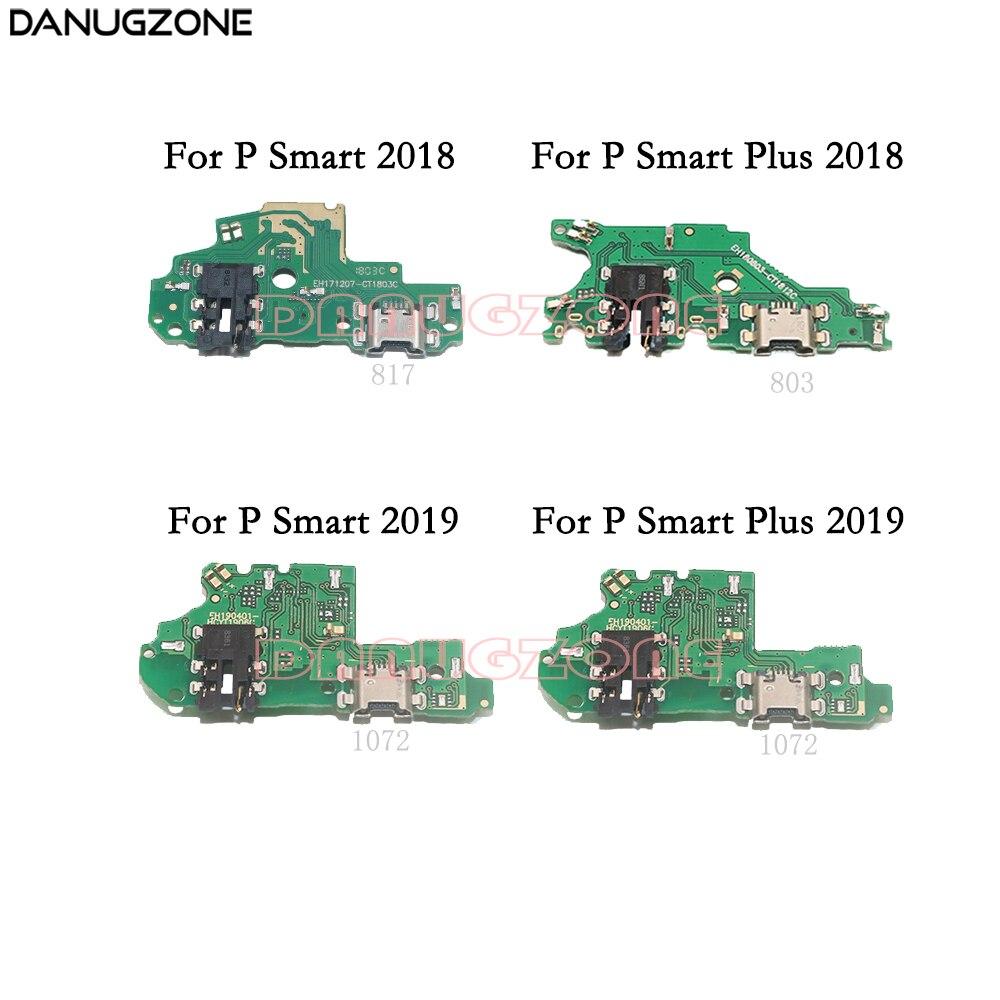 Puerto de carga USB, Conector de clavija, placa de carga, Cable flexible para Huawei P Smart Plus 2019 2018/P Smart + 2019