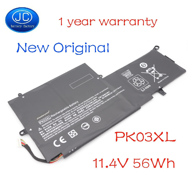 JC nuevo Original PK03XL batería de ordenador portátil para HP Spectre Pro X360 Spectre 13 HSTNN-DB6S 6789116-005 11,4 V 56WH 1 Warrranty
